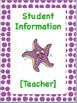 Editable Underwater Themed Teacher Binder Covers