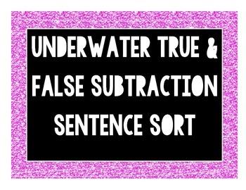 Underwater True & False Subtraction File Folder Activity {CC Aligned]