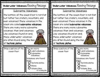 Underwater Volcano Reading Passages