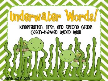 Underwater Word Wall!