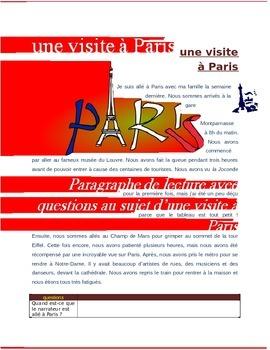 Une Visite à Paris FRENCH Reading on travel to Paris