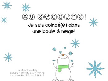 Une boule à neige-French Writing Activity