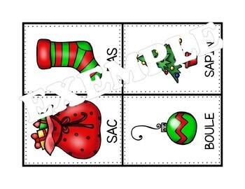 Une chasse aux mots - Noël