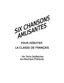 Une collection de chansons pour debuter la classe: Songs to start with
