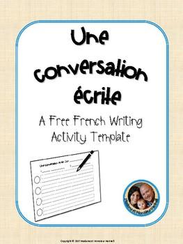 Une conversation écrite - French Written Conversation Activity Template FREEBIE