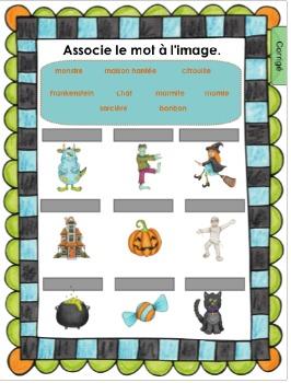 Une étrange voisine à l'Halloween / Activité Notebook pour SmartBoard