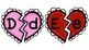 Une mayúscula-minúscula abecedario en español de San Valentín- Corazones