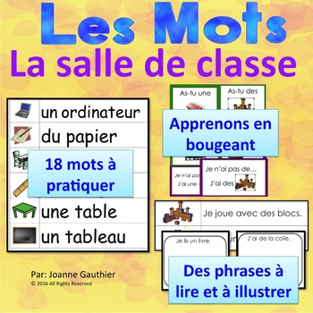 Je travaille mon vocabulaire: La salle de classe {French Vocabulary Practice}