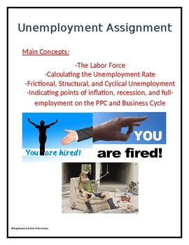 Unemployment Assignment w/ Answer Key