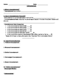 Unemployment - Notes To Slideshow AND Worksheet/Activity
