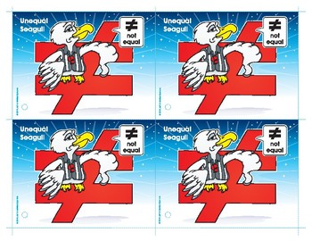 Unequal Seagull Number Buddy Card