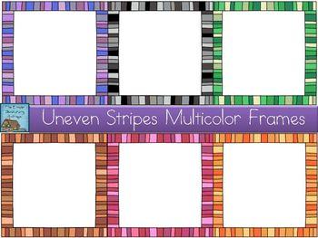Uneven Stripes Multicolor Frames