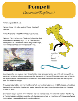 Unexpected Explosion: A glimpse into Mt. Vesuvius and the city of Pompeii