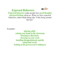 Unexpected and Expected Behaviors Worksheet