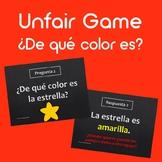 Unfair Game: Los colores ¿De qué color es?