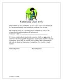 Unfinished Classwork Worksheet