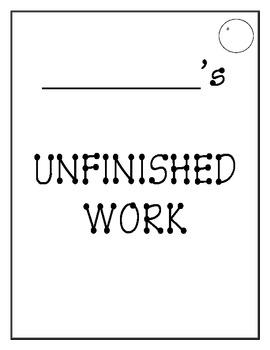 Unfinished Work Folder Cover