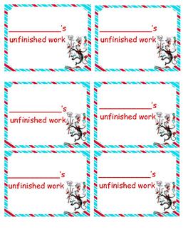 Unfinished Work Labels