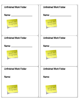 Unfinished Work Labels
