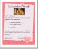 Unfinished Work - Parent/Student/Teacher communication checklist