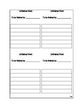 Unfinished Work Reminder (pdf)