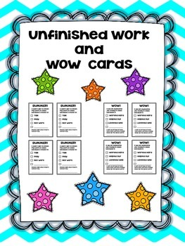 Unfinished Work and WOW Cards