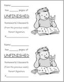 Unfinished Work form - English/Spanish