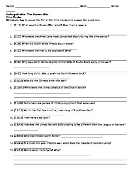 Korean War Worksheet Free Worksheets Library | Download and Print ...