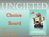 Ungifted Choice Board Novel Study Activities Menu Book Pro