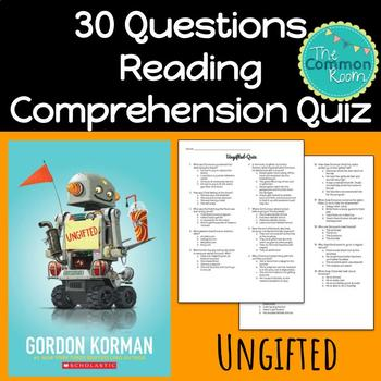 Ungifted (Gordon Korman)--Comprehension Test or Quiz