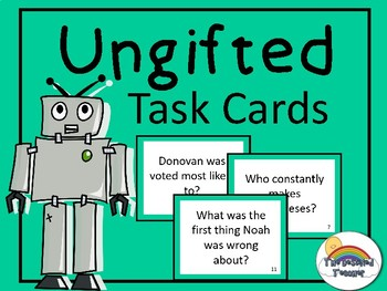 Ungifted Novel Book Task Cards Small Group Center Stations Game