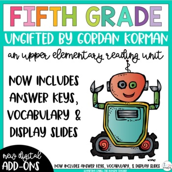 Fifth Grade Reading Unit - Ungifted
