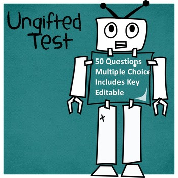 Ungifted by Gordon Korman Test