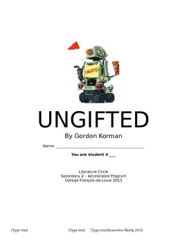 Ungifted by Korman - Literature Circle Booklet