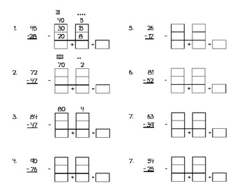 Ungrouping Subtraction Worksheet Using Expanded Form by erin nelsen