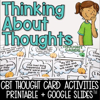 Thought Example Cards - CBT for Elementary - Helpful vs. U