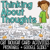 CBT Thought Cards and Activities for Positive Thinking