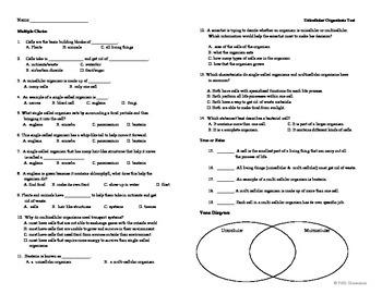 Unicellular Organism Test