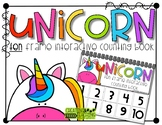 Unicorn 10 Frame Counting Interactive Book