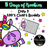 Unicorn 100's Chart: 5 Days of Freebies-Day 3