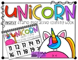 Unicorn 20 Frame Counting Interactive Book