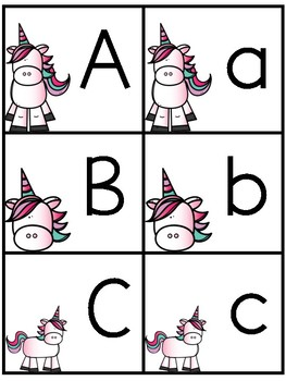 Unicorn ABC cards and I have who has