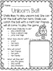 Unicorn Activities: Unicorns Reading Comprehension Passages and Questions