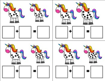 Unicorn Addition Task Cards (Sums 1-20)