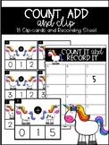 Unicorn Addition Clipcard Center