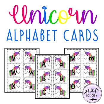 Unicorn Alphabet Cards