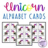 Unicorn Alphabet Cards