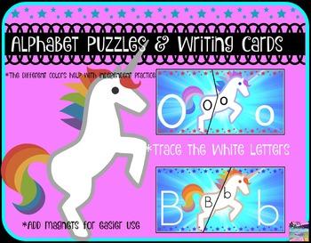 Unicorn Alphabet Puzzles & Writing Practice...