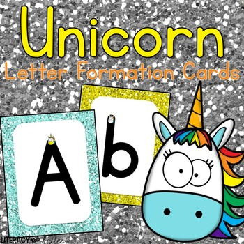 Unicorn Alphabet & Handwriting Cards {Perfect for RtI, & intervention}