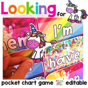 Unicorn Alphabet and Sight Word Game